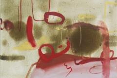 Zapisane, 2019, olej na płótnie 40x50 cm