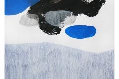 bez tytułu, 2019, akryl, kredka na papierze 20x20 cm