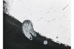 bez tytułu, 2019, pastel, akryl na papierze 20x20 cm