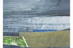 bez tytułu, 2019, collage, pastel, akryl na papierze 20x20 cm