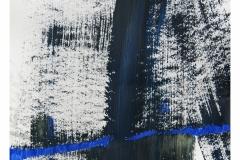 bez tytułu, 2019, flamaster, akryl na papierze 20x20 cm