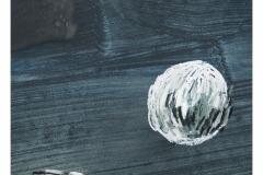 bez tytułu, 2019, akryl, pastel na papierze 20x20 cm